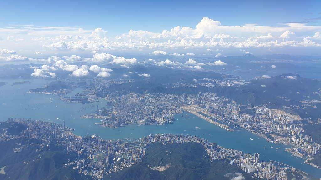Hong Kong photographed from a plane