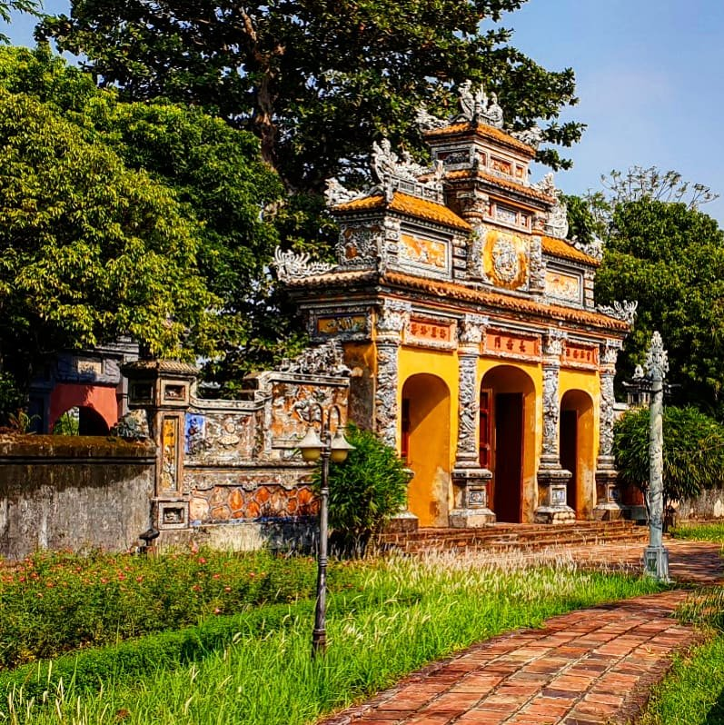 Ornate gateway in Hue Imperial Citadel