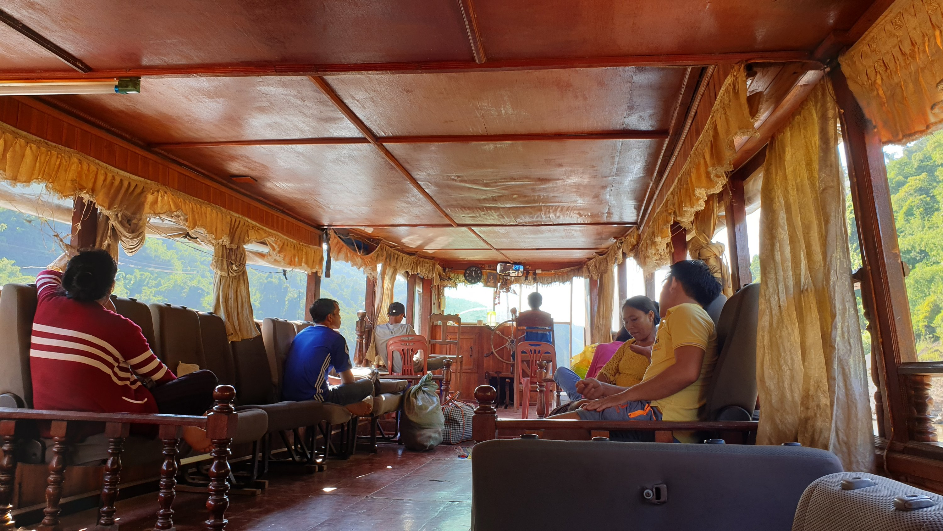 On board a slow boat in Laos